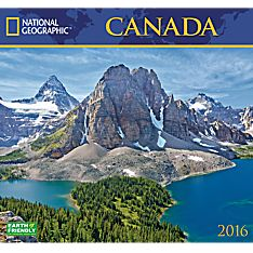 2016 National Geographic Canada Wall Calendar