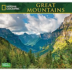 2016 National Geographic Great Mountains Wall Calendar