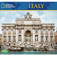 2016 National Geographic Italy Wall Calendar