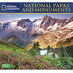 2016 National Geographic National Parks and Monuments Wall Calendar