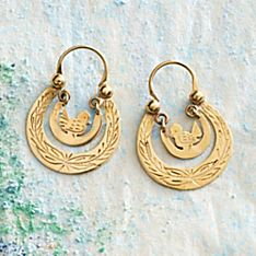 Guatemalan Bird Nest Earrings
