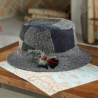 Donegal Tweed Wool Patchwork Hat