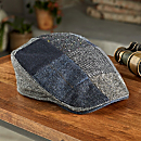 Donegal Tweed Wool Patchwork Walking Cap