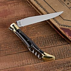 Laguiole Pressed-horn Corkscrew Knife
