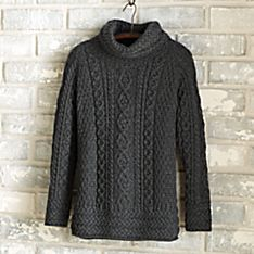 Irish Aran Turtleneck Tunic