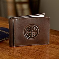 Celtic Leather Money Clip