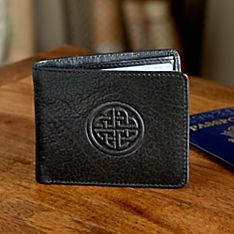 Celtic Leather Travel Wallet