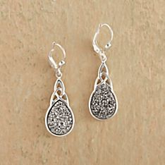 Irish Celtic Knot Druzy Earrings