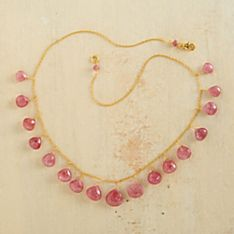 Thai Pink Ruby Necklace