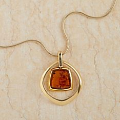 Gdynia Amber Vermeil Necklace