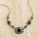 Balinese Abalone and Garnet Necklace