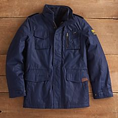 National Geographic Men's Waxed-cotton Jacket