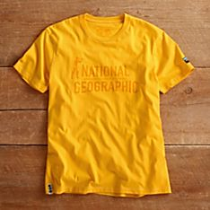 National Geographic Men's Yellow Explorer T-Shirt