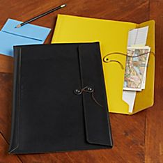 National Geographic Recycled Leather Portfolio Case