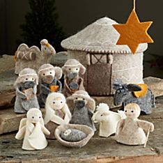 Kyrgyz Felt Yurt Nativity