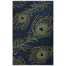 National Geographic Peacock Rug - Blue