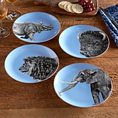 National Geographic Wild Animals Dessert Plates - Set of 4