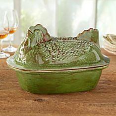 Italian Stoneware Chicken Roaster