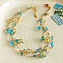 Vetro a Lume Venetian Glass Necklace