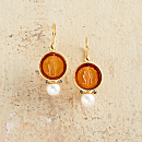 Italian Intaglio Glass Earrings