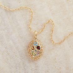 Italian Art Nouveau Gold and Gem Necklace