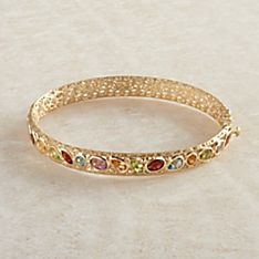 Italian Art Nouveau Gold and Gem Bracelet
