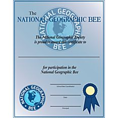 National Geographic Bee Student Participation Certificate - 10 Pack
