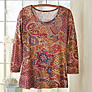 Indian Paisley Travel Shirt