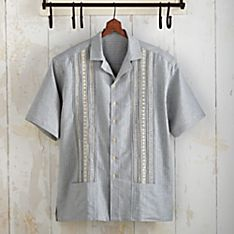 Salvadoran Denim Guayabera Shirt