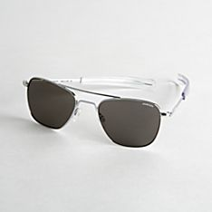 Authentic Aviator Sunglasses - Chrome Frame