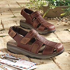 Lightweight Leather Touring Sandals