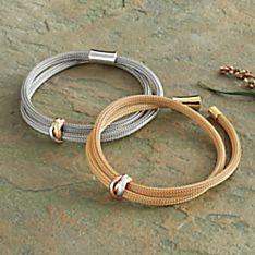 Arezzo Woven Mesh Bracelet