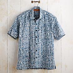 Balinese Palm Batik Shirt