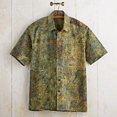 Balinese Geometric Batik Shirt