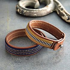 Obi and Leather Bracelet