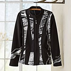 Indian Patola Black and White Travel Jacket