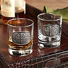 Celtic Glass Tumblers - Set of 2