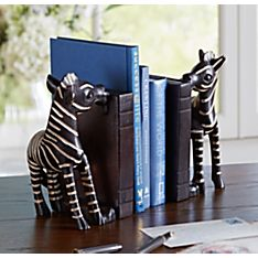 Rwandan Zebra Bookends