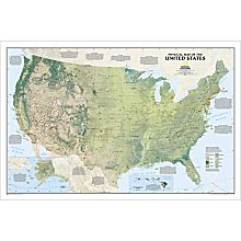 Hand-Painted U.S. Physical Map