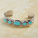 Navajo Bikeyah Turquoise Bracelet
