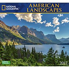 2017 American Landscapes National Geographic Wall Calendar