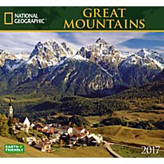 2017 Great Mountains National Geographic Wall Calendar