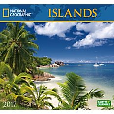2017 Islands National Geographic Wall Calendar