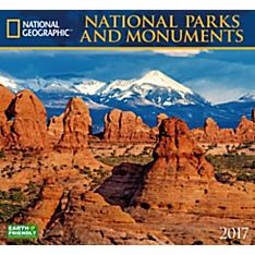 2017 National Parks & Monuments National Geographic Wall Calendar