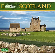 2017 Scotland National Geographic Wall Calendar