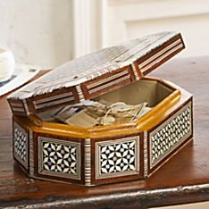 Mother of Pearl Octagonal Treasure Box