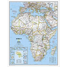 Africa Political Wall Map, Enlarged