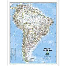 Political Boundary Map of South America