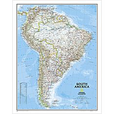 Map of South America with Political Boundaries