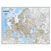 Europe Political Map, Enlarged and Mounted